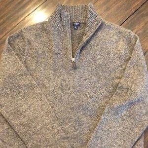 J Crew Men's L 1/4 Zip Sweater